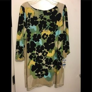 NWT Style & Co. Floral Jersey Dress. Size XL (16)